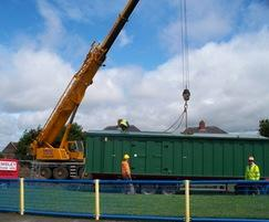 Changing rooms and plant room unloading