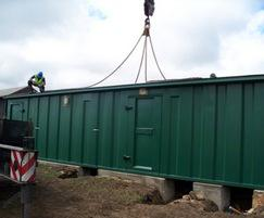 Changing rooms and plant room installation