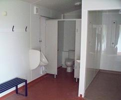 Changing room - toilet/shower
