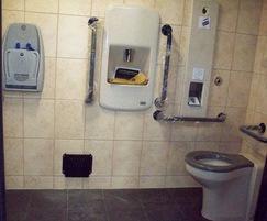 Brick-clad public toilet block - internal