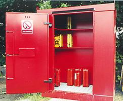 Flamsafe petrol can store
