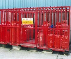 Secure gas bottle cage