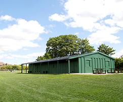Community pavilion - view from playing field
