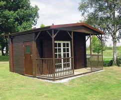 Apex modular buildings - bowls pavilion with verandah