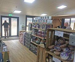 Shop area inside visitor centre