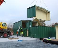 Installing a workshop and garage
