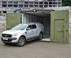 Highly secure, vandal resistant garage