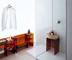 Amber plastic unit and stool min