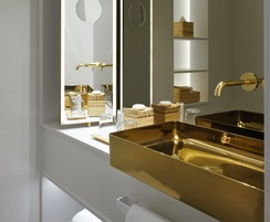 Bespoke gold washbasin