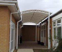 Oxford covered walkway & Oxford covered walkway | Clovis Canopies | ESI External Works