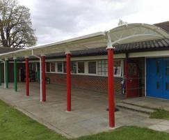 Oxford cantilever canopy shelter & Oxford cantilever canopy shelter | Clovis Canopies | ESI External ...