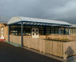 ... Play area canopy Craylands Primary School ... & Cheltenham barrel vault canopy shelter | Clovis Canopies | ESI ...