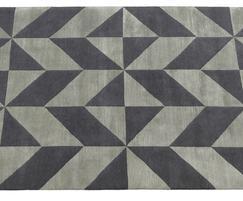 OPTIC bespoke wool & silk rug.