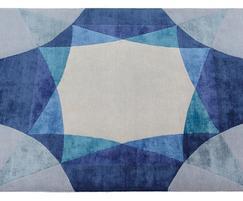 SAPPHIRE bespoke hand knotted wool & silk rug.