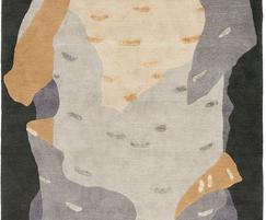 Deirdre Dyson SILVER BIRCH hand knotted wool & silk rug