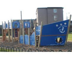 Bespoke commemorative play ship, Shedden Park, Kelso
