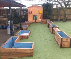 Customised shed and planting area