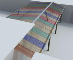 Rainbow canopy with coloured polycarbonate sheets | Setter