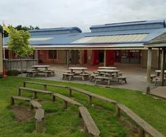 The pitch was designed to reflect their school building