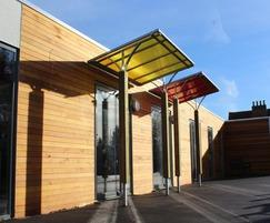 Rainbow school entrance canopies
