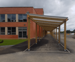 85m long covered walkway