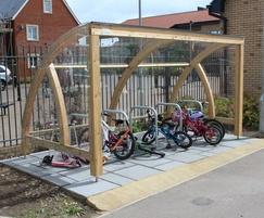 Douglas Fir cycle shelter