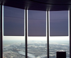 Anti-glare blinds for air traffic control towers