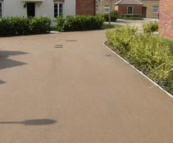 Resin-bonded surfacing at Quedgeley Housing Estate