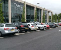 Grey NatraTex Colour gives contrast to the parking bays
