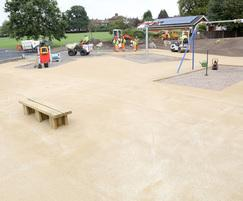 Resurfacing with NatraTex Cotswoldd for playground