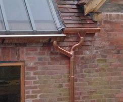 Bespoke copper guttering