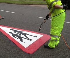 Road safety signs, quick and easy to apply