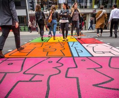 Bespoke designs, colourful crossing