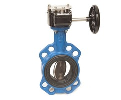 Semi-lugged double regulating butterfly valve