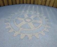 Rotary Club wheel emblem using Addacolor and Addabound