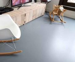 PU Floor Green Line designer resin flooring