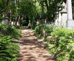 Resin bound pathway at Highgate Cemetery, London
