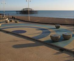 Addastone and Addaset surfacing, Brighton Bandstand