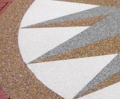 Different colours of Terrabound surfacing were used