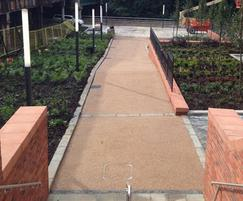 Terrabound surfacing for new walkways, Glasgow