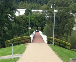 Addastone surfacing on paths at Stirling University