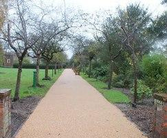 Resin bound pathway at historic crematorium