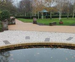 Terrabase Rustic surfacing - Mortlake Crematorium