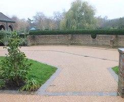 Terrabase Rustic resin bound surfacing, crematorium