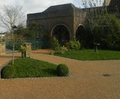 Rustic pathway surfacing at crematorium