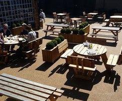 Surfacing for outdoor eating area at country inn