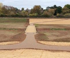 Resin bound surfacing at flood defence scheme