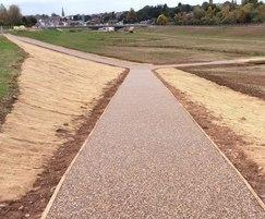 Resin bound surfacing installed, flood defence scheme