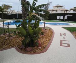 Porous, slip resistant surfacing - Spanish pool
