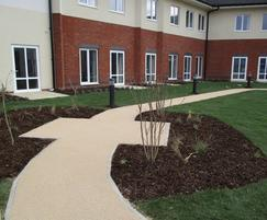 Resin bonded pathways at  housing development